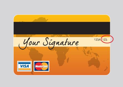 Visa Karte Sicherheitscode.Information Sicherheitscode